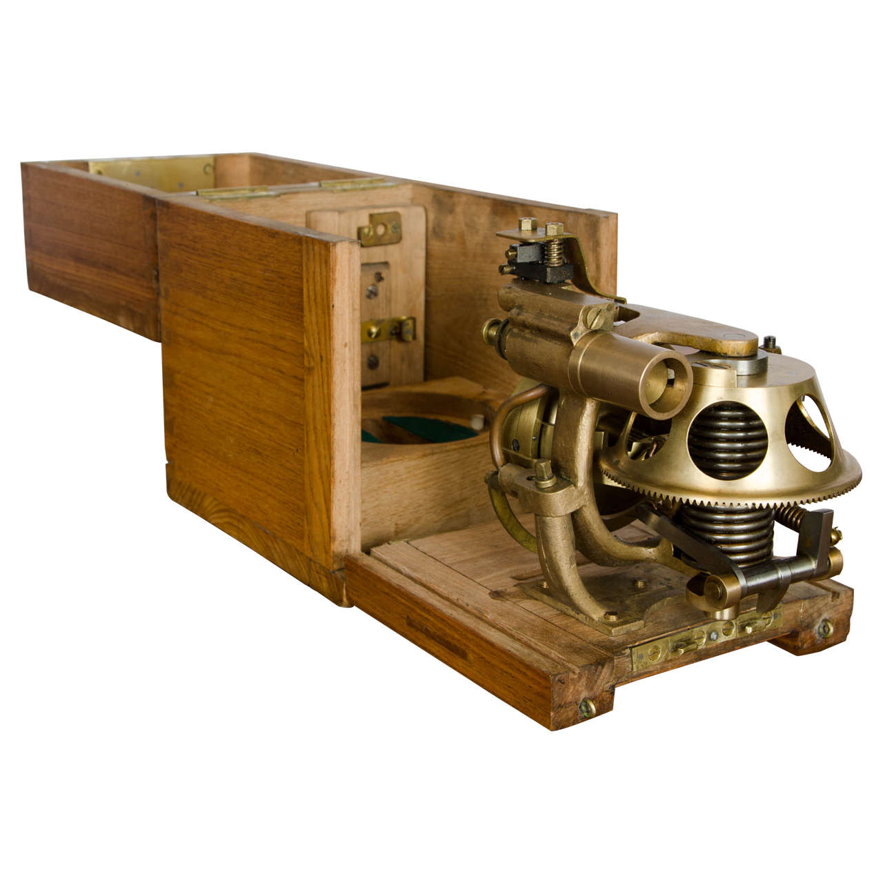 A Rare Early Cased Torpedo Gyroscope By Whitehead And Co