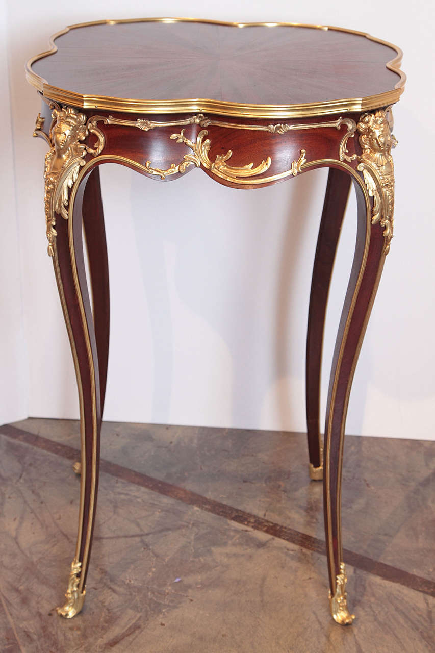 19th century french louis xv end table signed linke at 1stdibs. Black Bedroom Furniture Sets. Home Design Ideas
