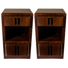 Art Deco Machine Age Streamline Night Stands/End Tables