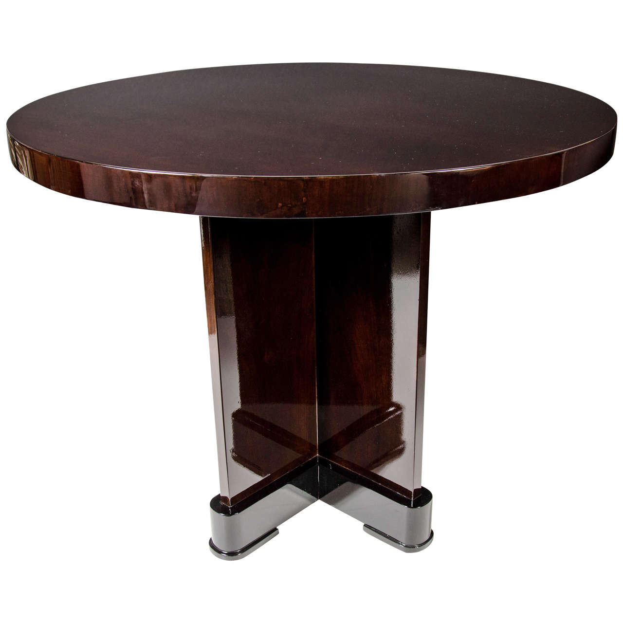 Art Deco Foyer Table : Exceptional art deco occasional center hall table in