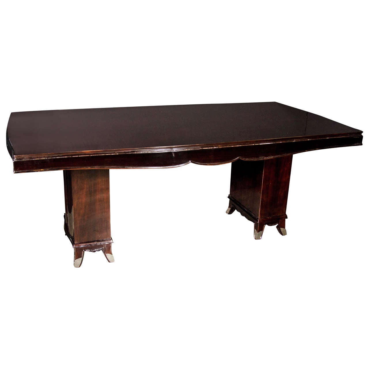 Elegant Art Deco Dining Table Attributed to Adnet