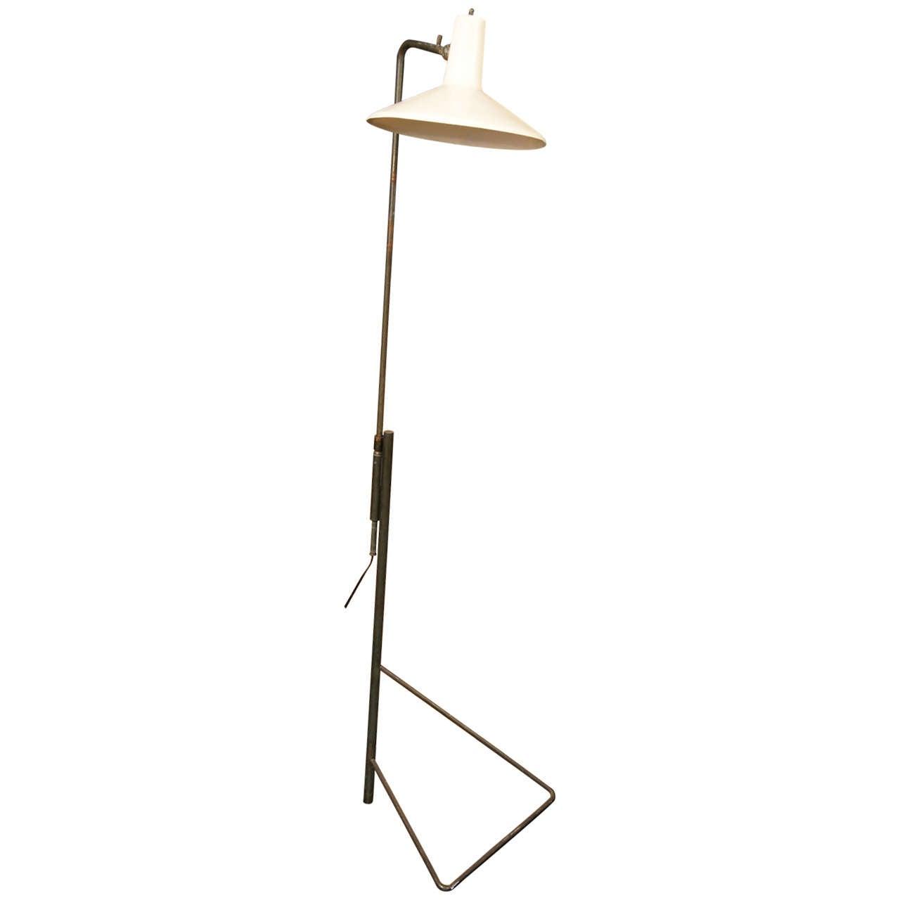 Wall Hugger Floor Lamp : Adjustable Knoll Floor or Wall Lamp at 1stdibs