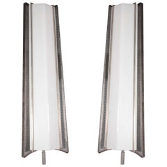 Massive, very large pair of French Mid-Century Sconces, Mathieu Matégot
