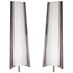 Monumental, very large Pair of French Mid-Century Sconces, Mathieu Matégot