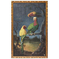 Impressive Tropical Parrot Motif Mural