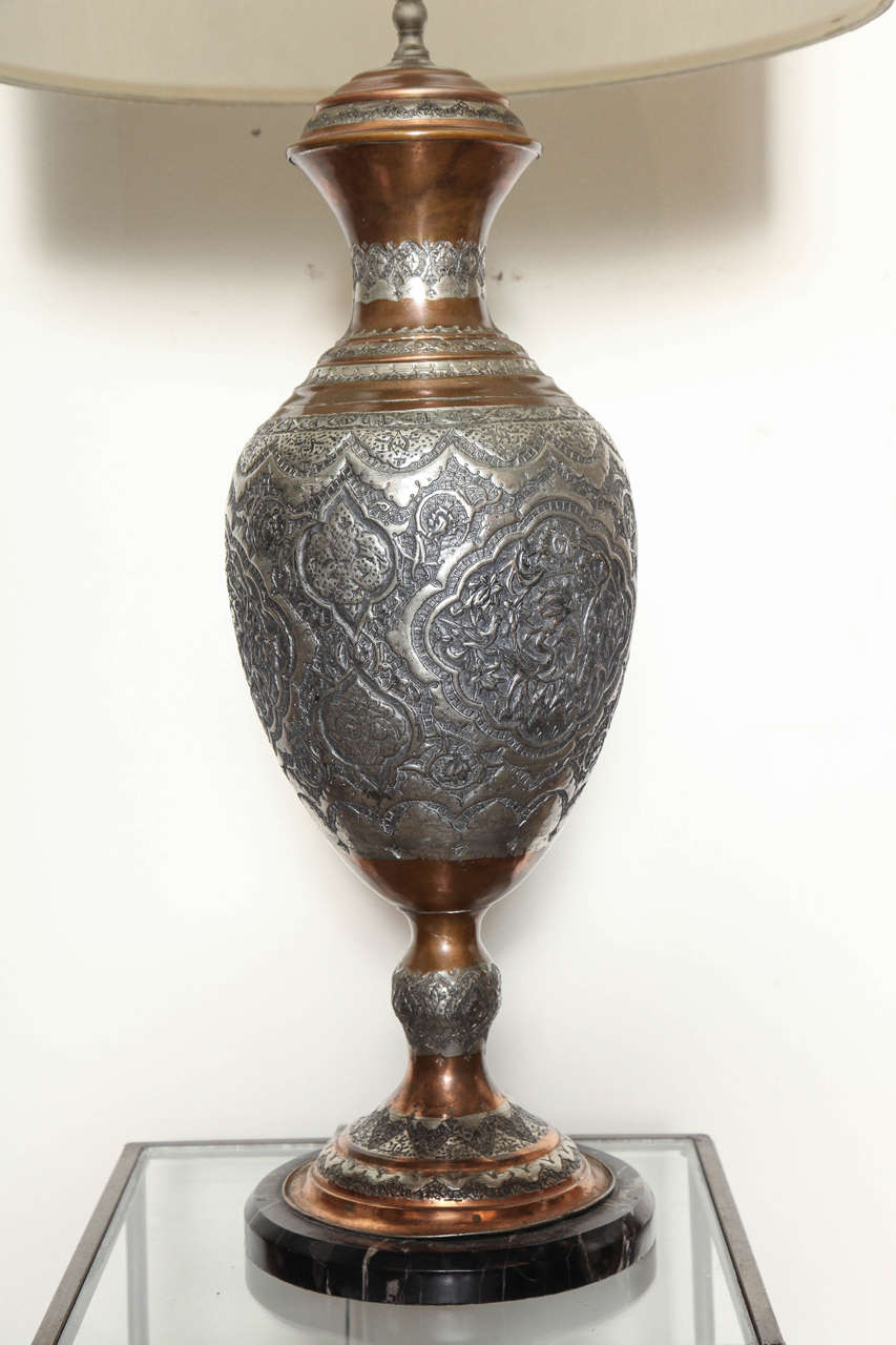 pair of moroccan style table lamps at 1stdibs. Black Bedroom Furniture Sets. Home Design Ideas