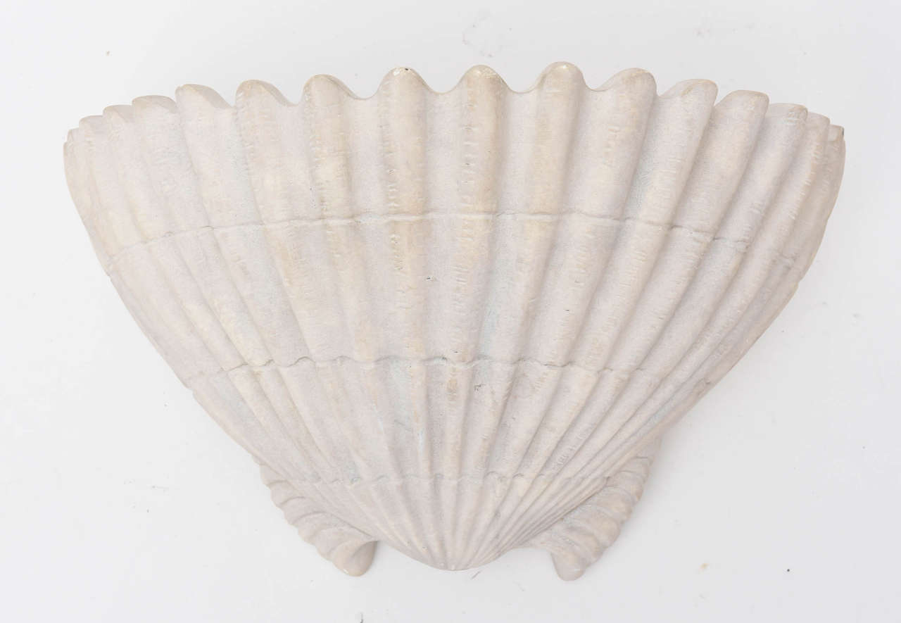Sirmos Shell Form Sconces In Good Condition For Sale In West Palm Beach, FL