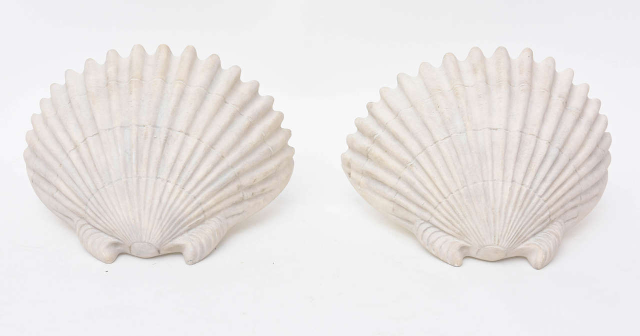 American Sirmos Shell Form Sconces For Sale