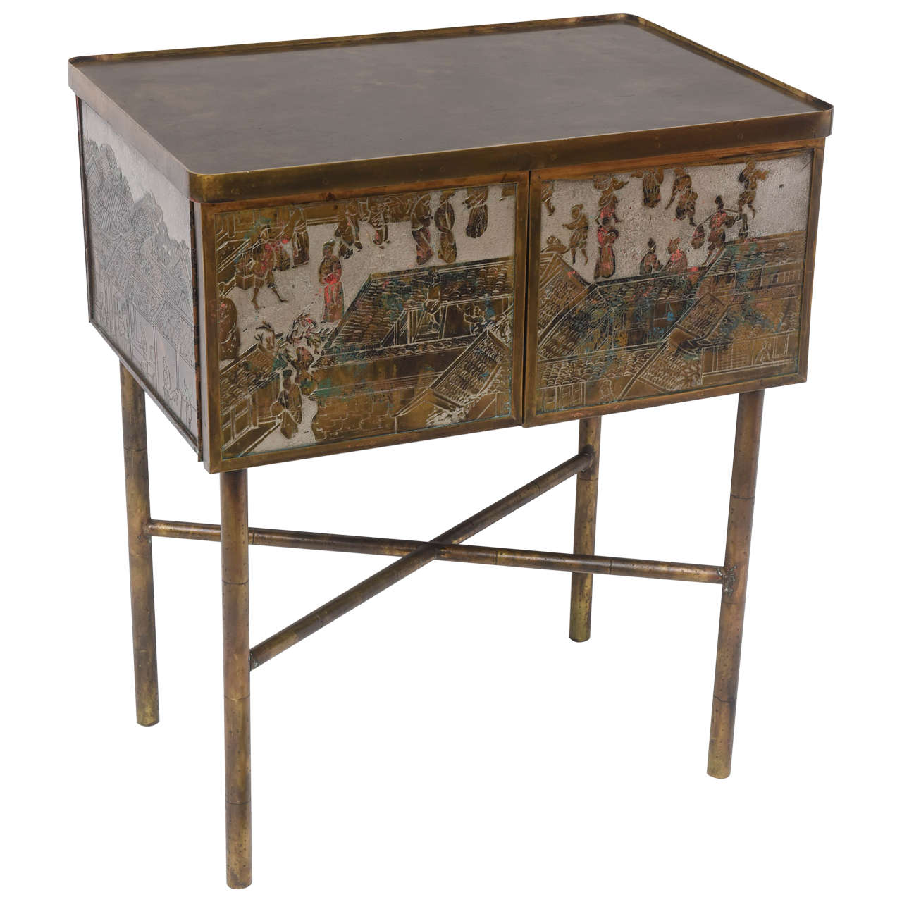 Philip & Kelvin Laverne Two Door Chinese Cabinet