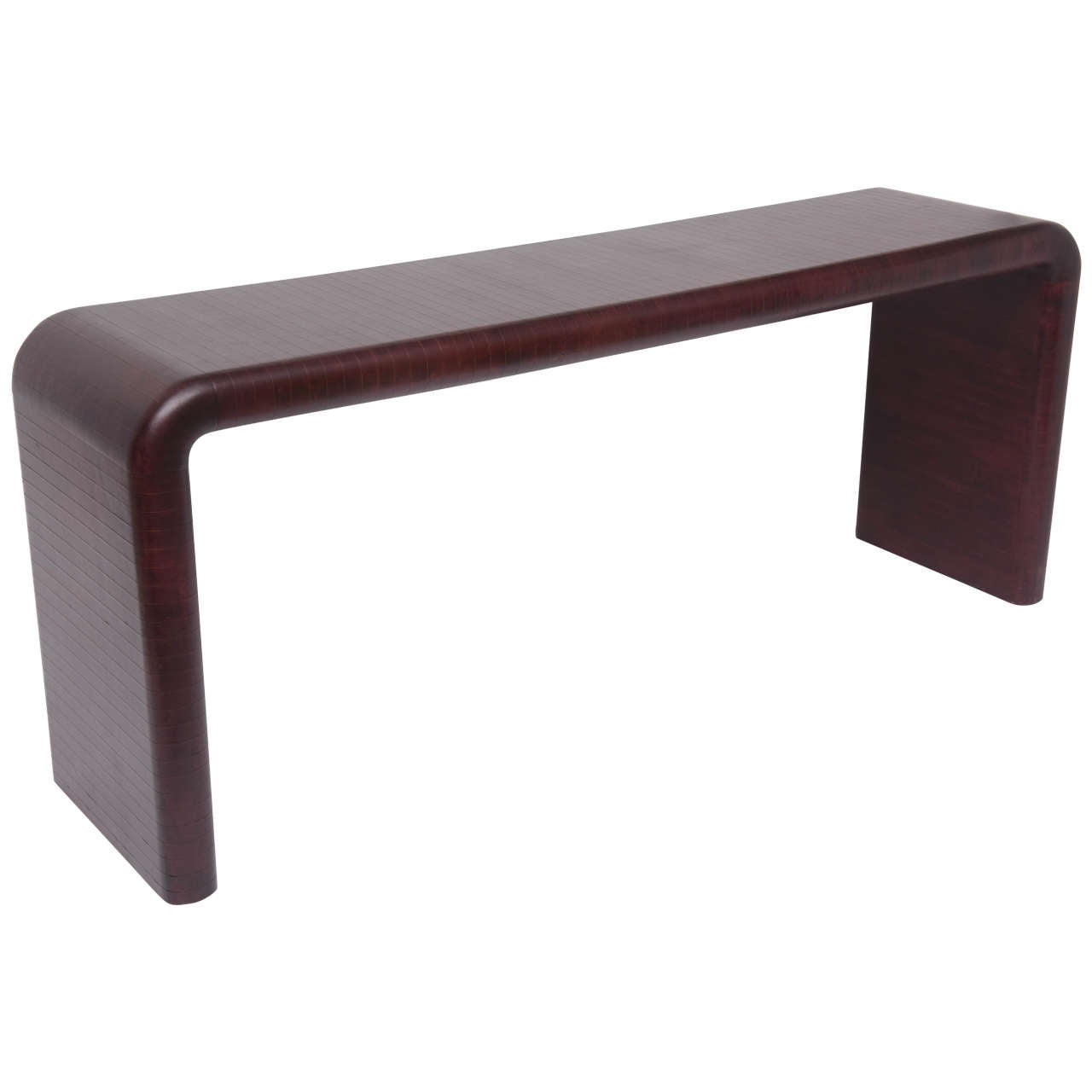 Karl Springer Leather Wrapped Console Table