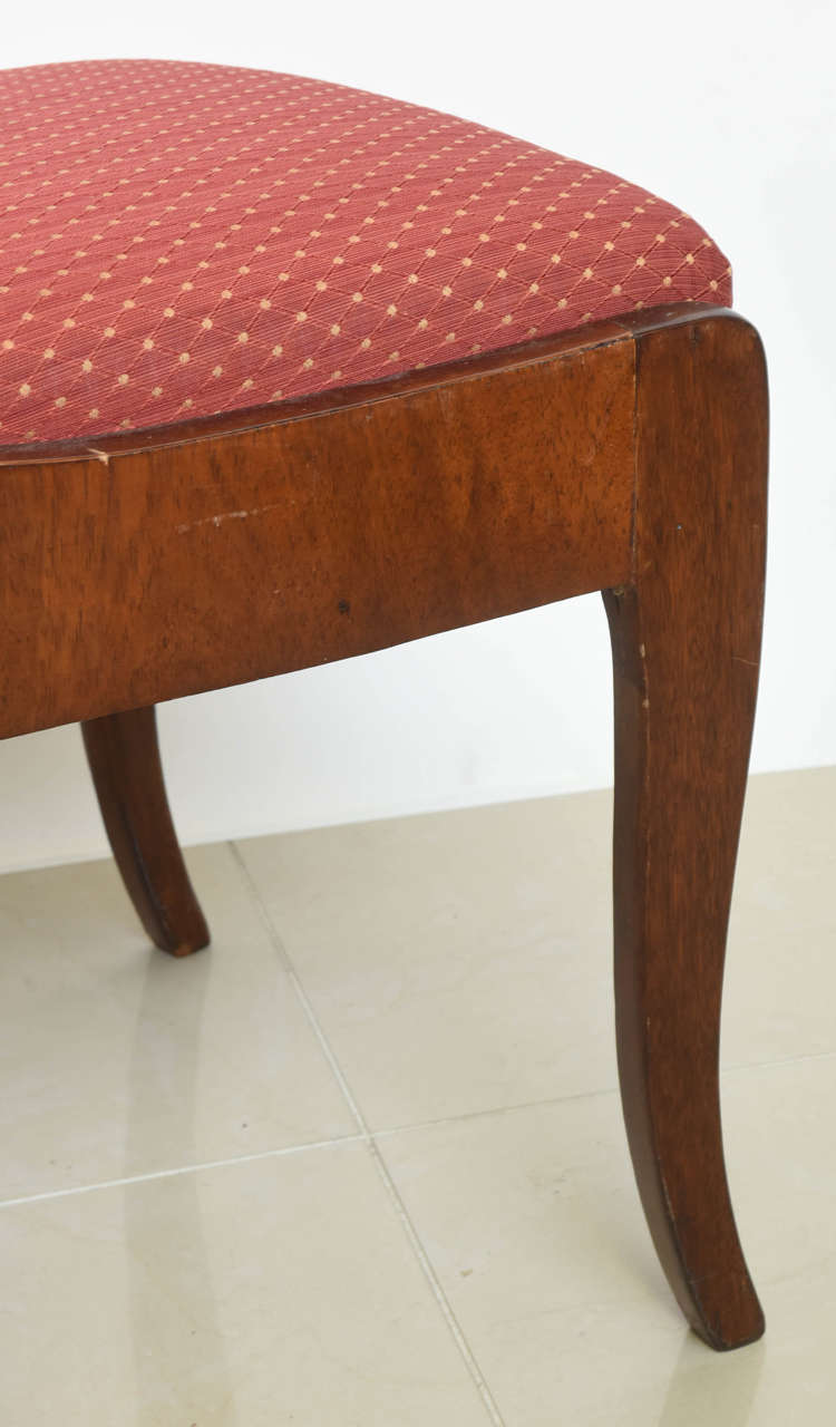 Set of Eight Russian Neoclassic Mahogany and Parcel-Gilt Dining Chairs For Sale 4