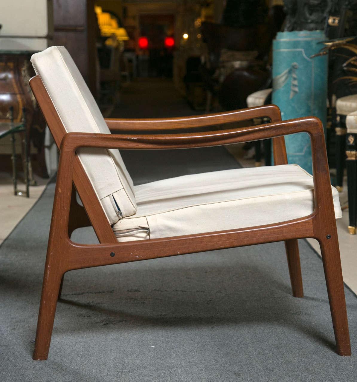 Ordinaire Mid Century Modern Ole Wanscher Mid Century Teak Lounge Chair By John  Stuart Sleek