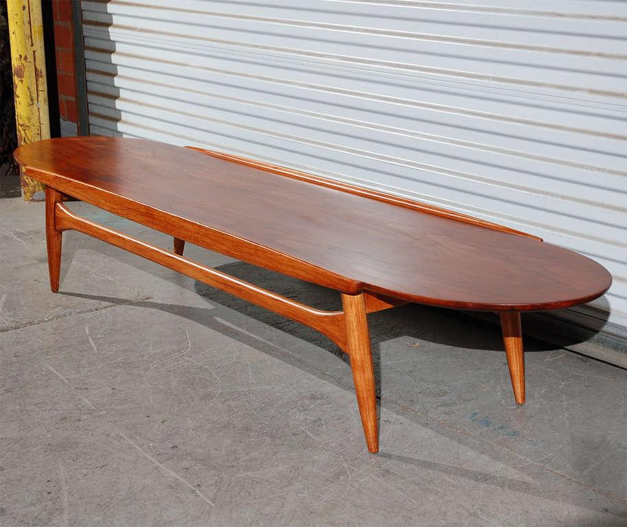 Ikea Mid Century Modern Coffee Table: Mid Century 'Surfboard' Coffee Table At 1stdibs