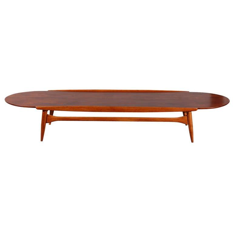 mid century 39 surfboard 39 coffee table at 1stdibs