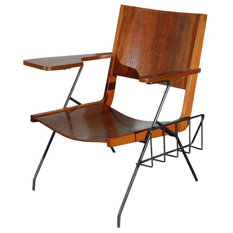 Pierre Guariche Chair with Magazine Rack