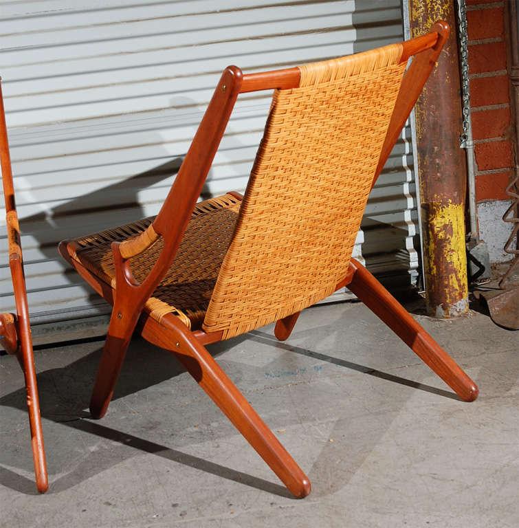 Wicker Arne Hovmand-Olsen Easy Chairs For Sale