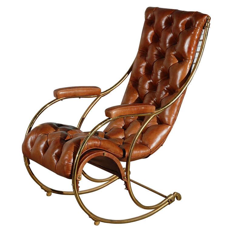 Brass Rocking Chair