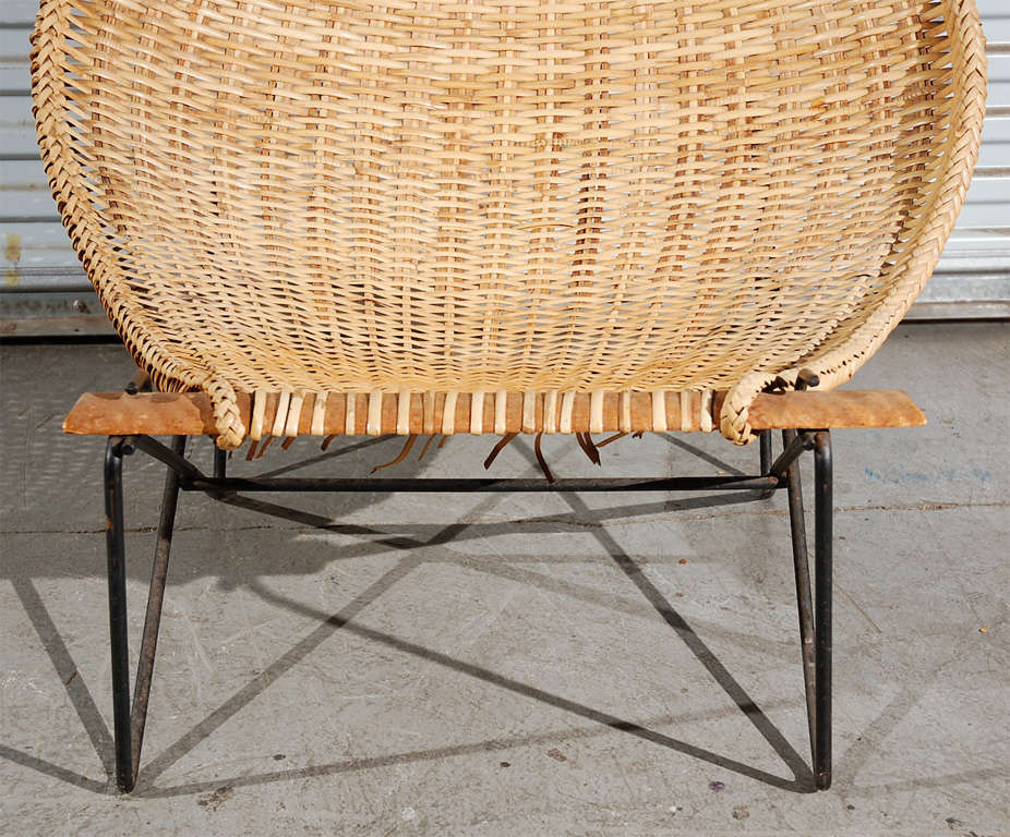 One rattan chaise lounge at 1stdibs for Bamboo chaise lounge