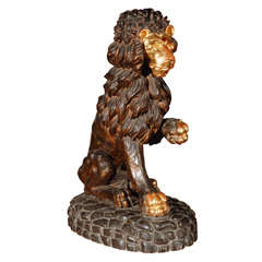 Hand Carved Roman Lion