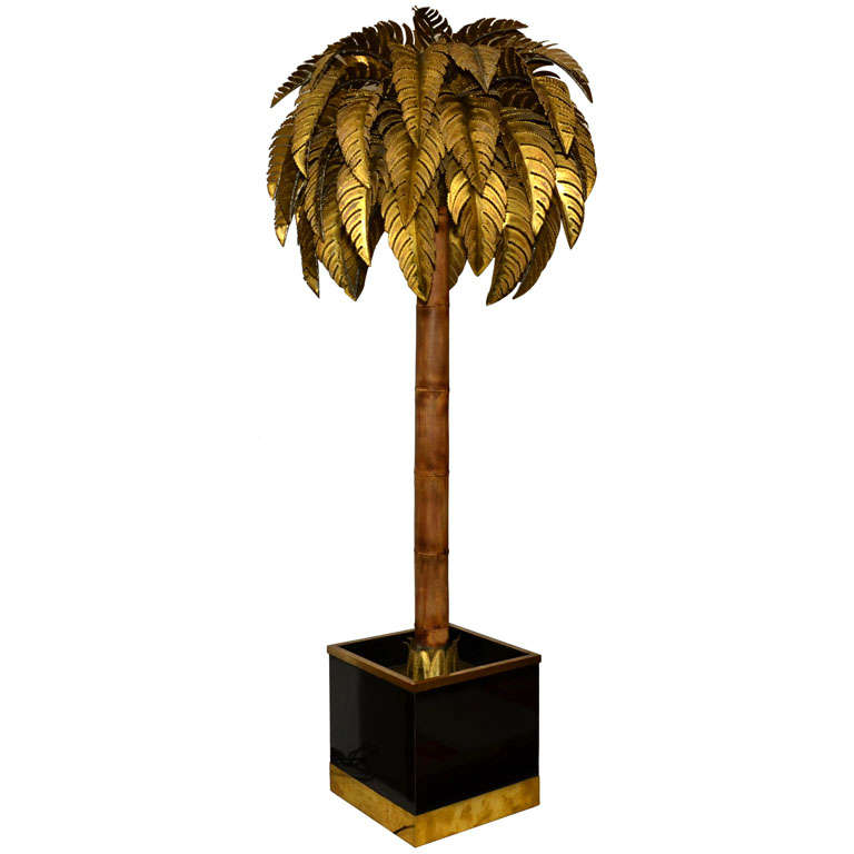 outdoor palm tree floor lamp maison jansen palm tree floor lamp at. Black Bedroom Furniture Sets. Home Design Ideas