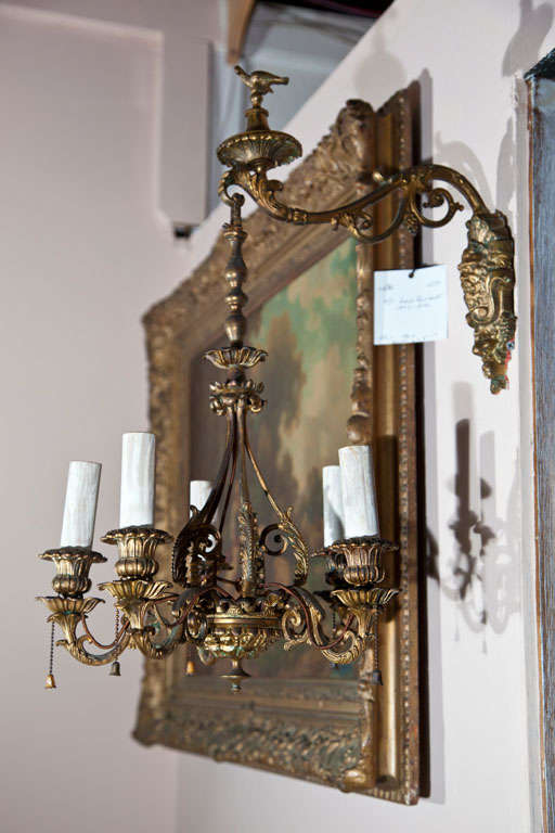 Bronze Pair Of Unusual Wall Sconces For Sale