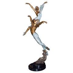 """Life Size Bronze Statue """"pas de Deux"""" by Mario Jason"""