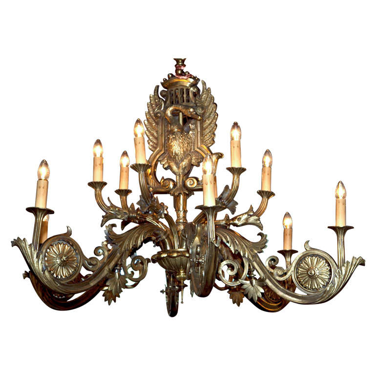 Antique Russian Bronze Swan Chandelier For Sale At 1stdibs