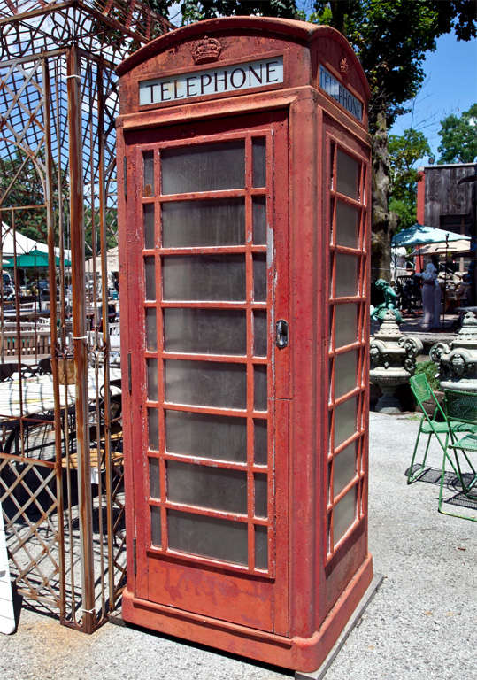 Old English Phone Booth At 1stdibs