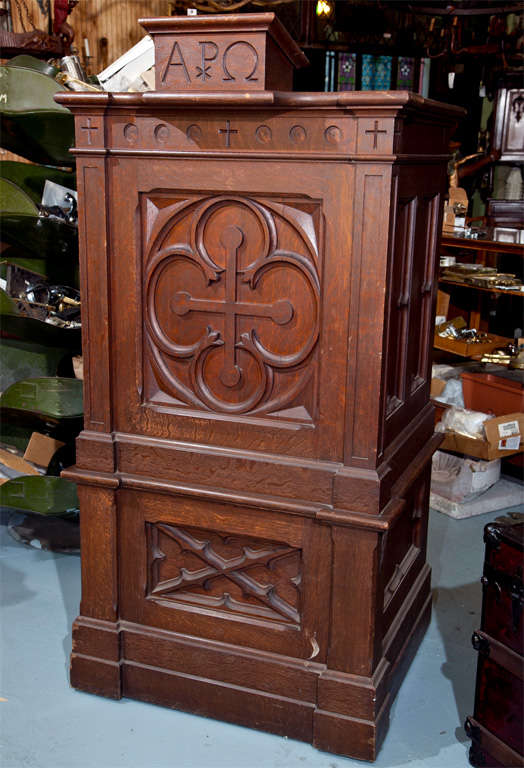 Antique Oak Church Pulpit Podium Lectern At 1stdibs