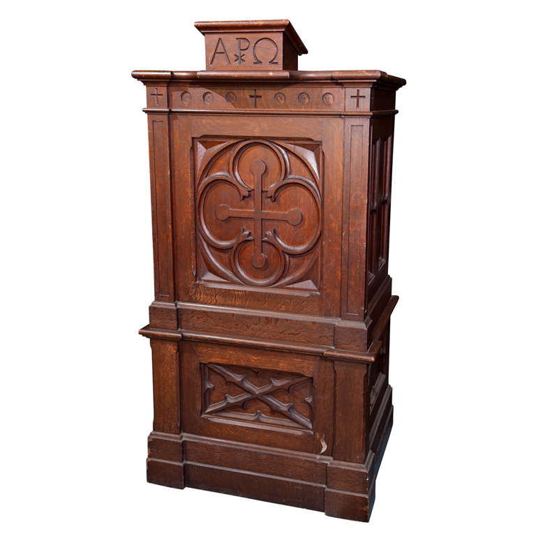 Astonishing Antique Oak Church Pulpit Podium Lectern At 1Stdibs Machost Co Dining Chair Design Ideas Machostcouk