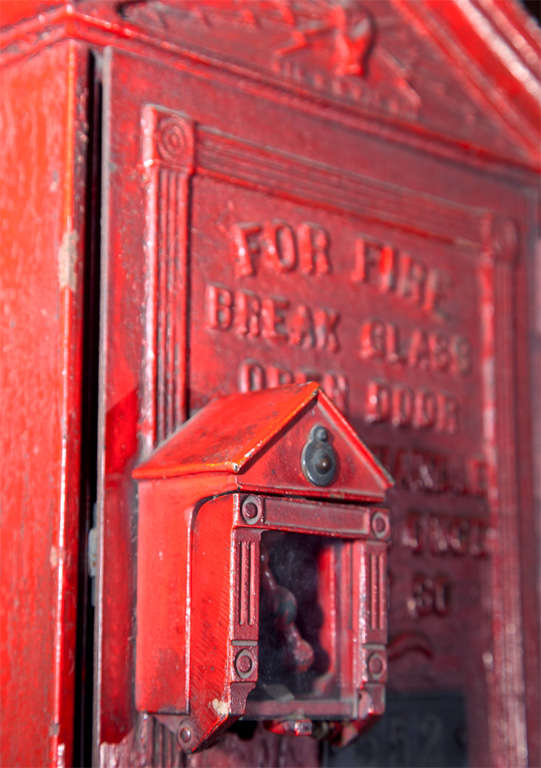 Antique New York City Fire Department Call Box For Sale at