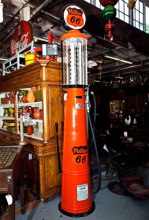 1920's Visible Phillips 66 Gas Pump