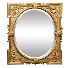 Victorian Giltwood Beveled Mirror