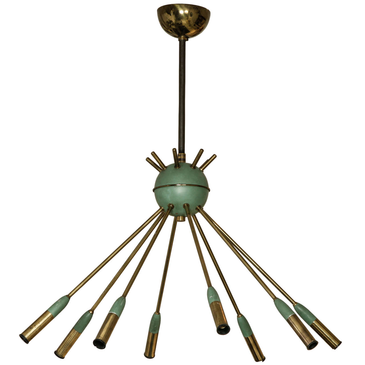 Italian design mid century ceiling light at 1stdibs for Mid century ceiling lamp