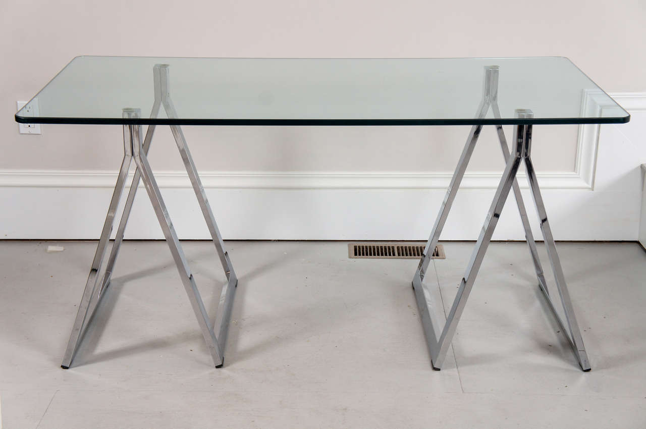 #5A5049 70's Chrome And Glass Writing Table At 1stdibs with 1280x850 px of Best Glass Writing Table 8501280 image @ avoidforclosure.info