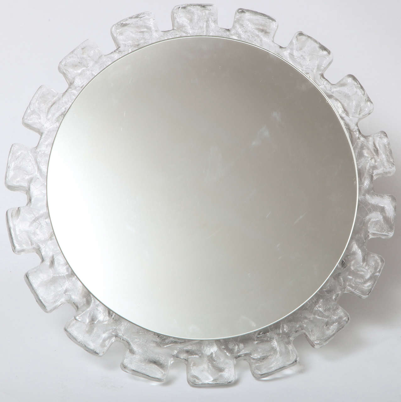 A great illuminated wall mirror with a curved molded resin frame.  Great for a powder room or entrance.