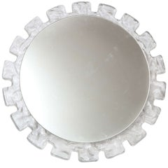 Illuminated Circular Mirror with Molded Surround