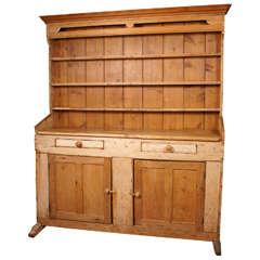 19th Century Pine Welsh Dresser Or Hutch