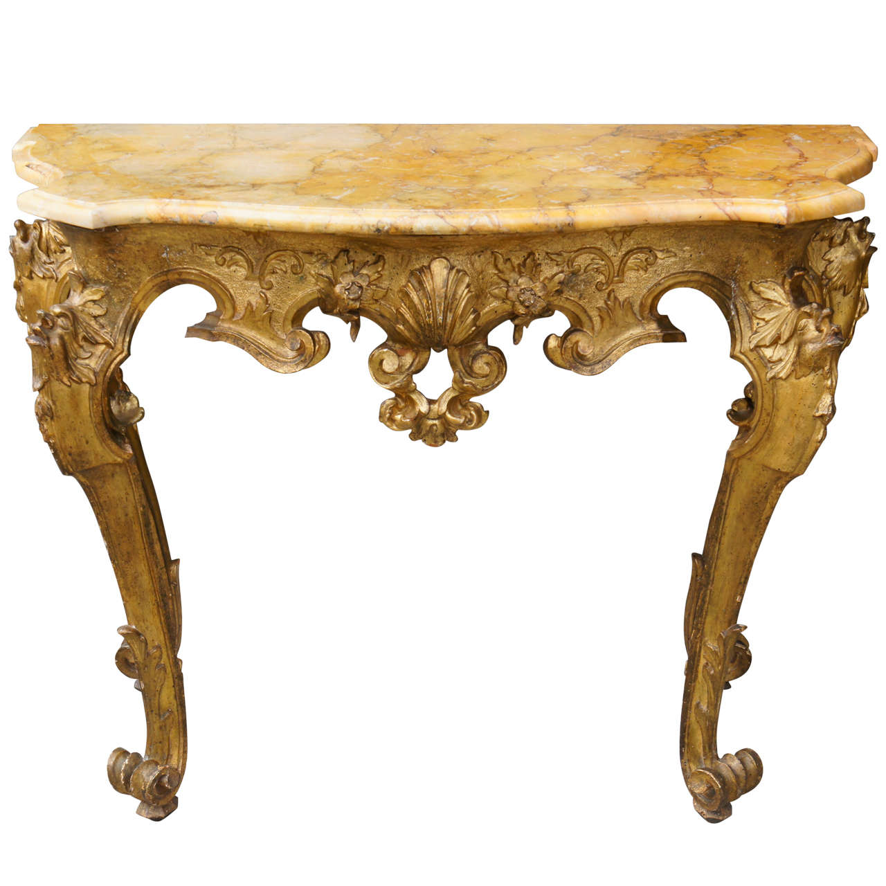 console tables for sale Fine Roman Gilt Wood and Sienna Marble Topped Console Table For  console tables for sale