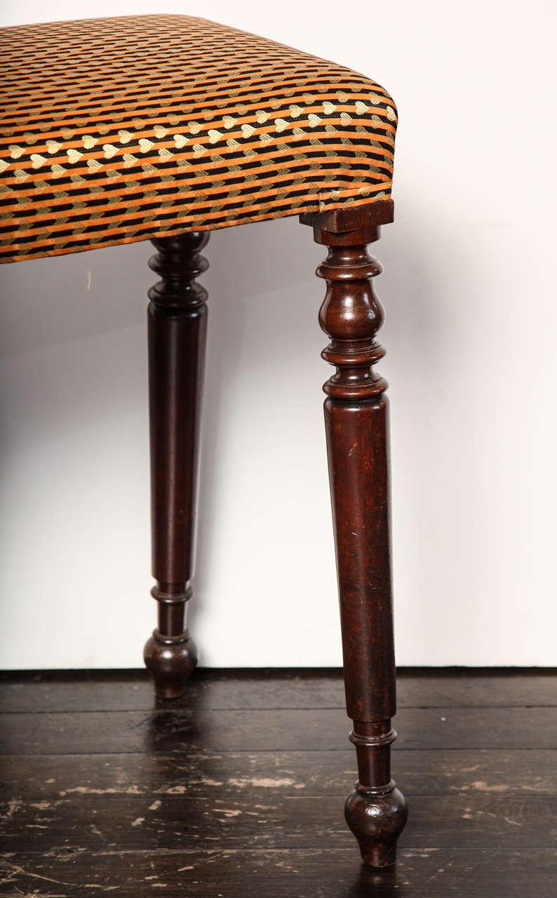 Mahogany Mid 19th Century Irish Bench For Sale