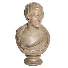 19th Century Plaster Bust of a Gentleman