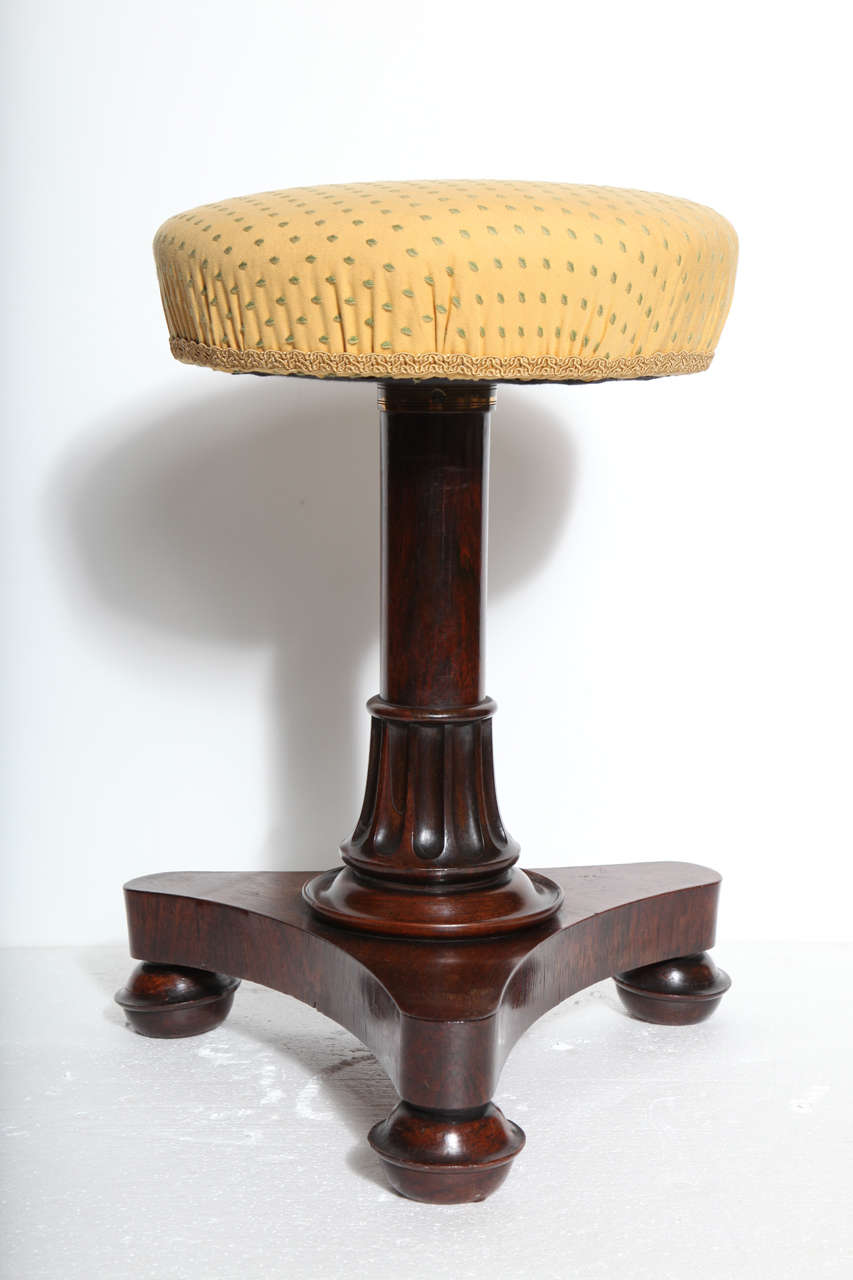 English 19th Century Piano Stool For Sale
