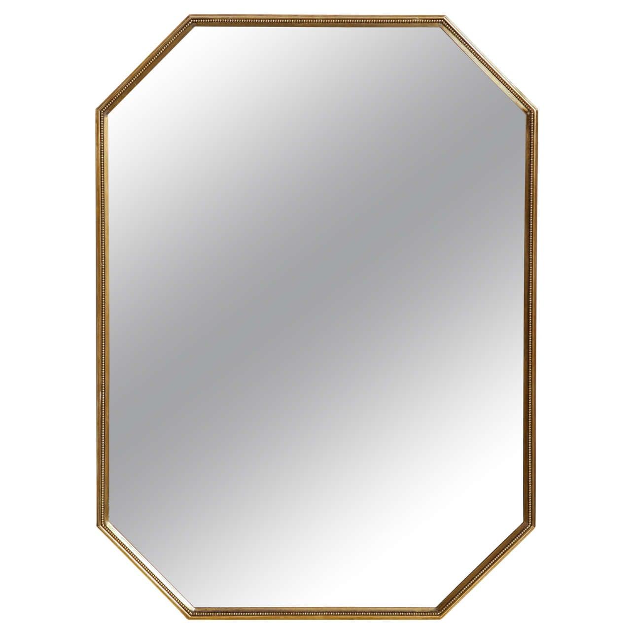 Fine Brass Octagon Italian Mirror At 1stdibs