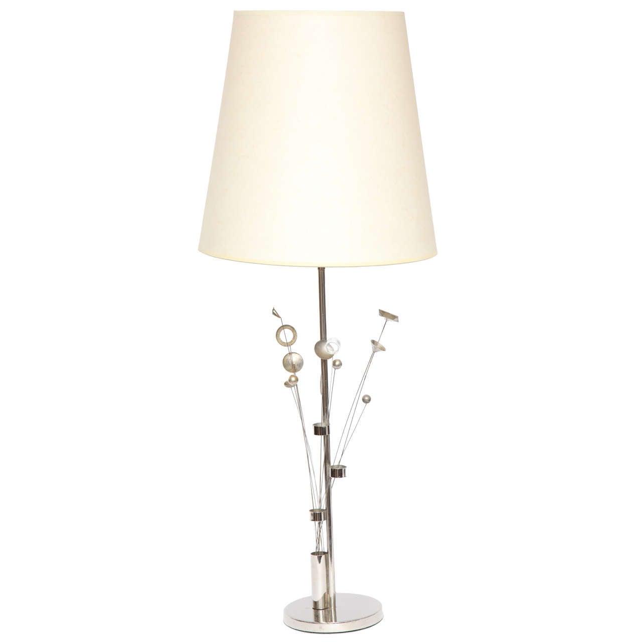 1960s Italian Sculptural Kinetic Table Lamp
