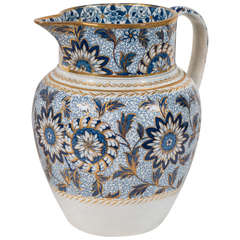 Blue and White Pearlware Jug