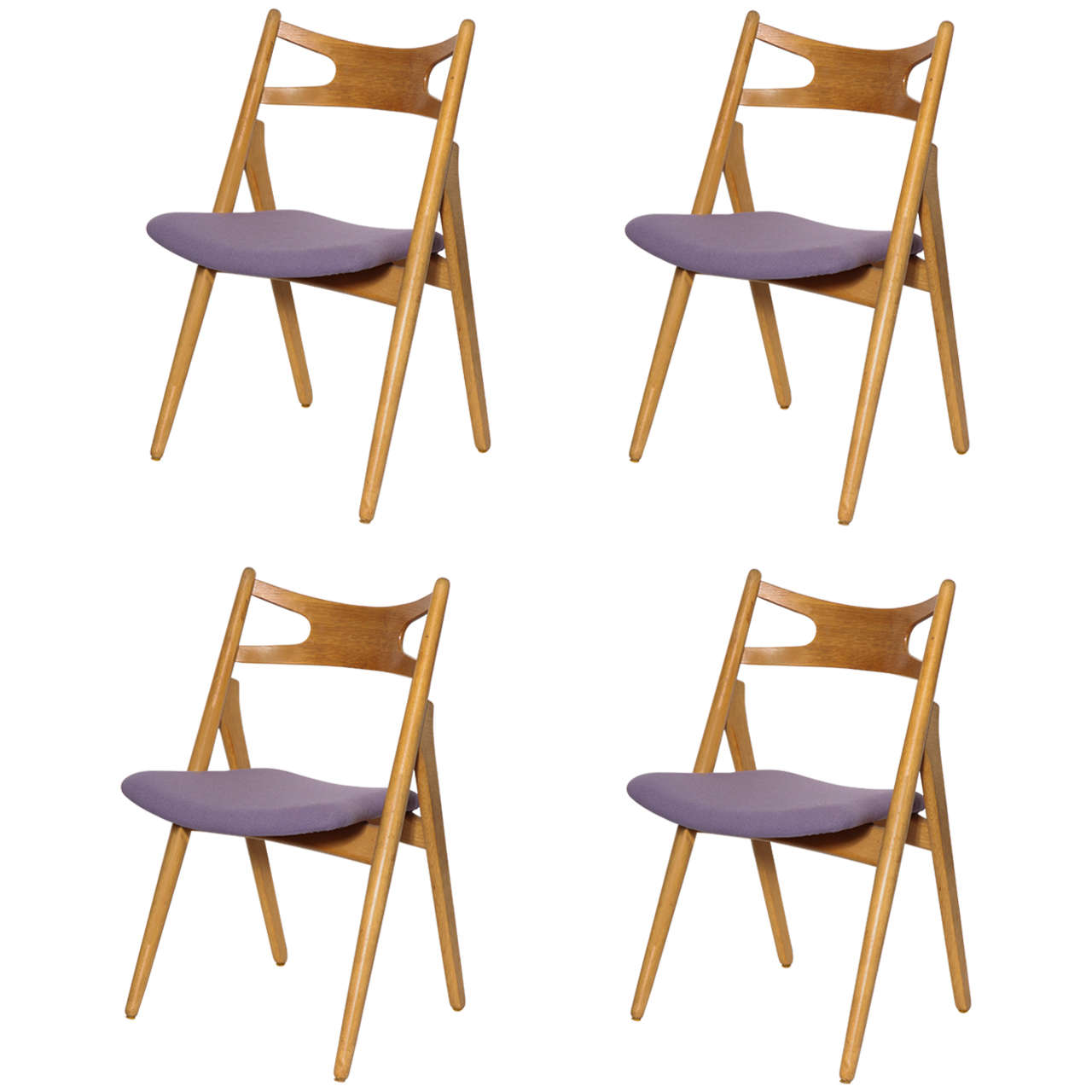 Hans Wegner CH29 Sawbuck Dining Chairs, Set of Four 1