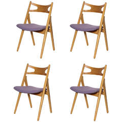 Hans Wegner CH29 Sawbuck Dining Chairs, Set of Four