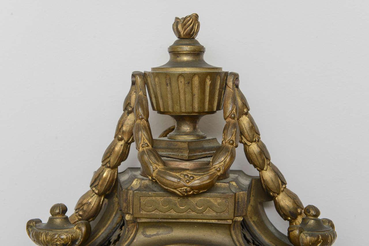 louis xvi bronze cartel clock signed mabille for sale at 1stdibs. Black Bedroom Furniture Sets. Home Design Ideas