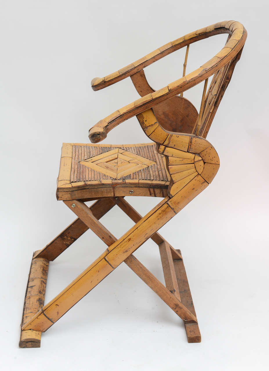 Bamboo Folding Chair For Sale at 1stdibs