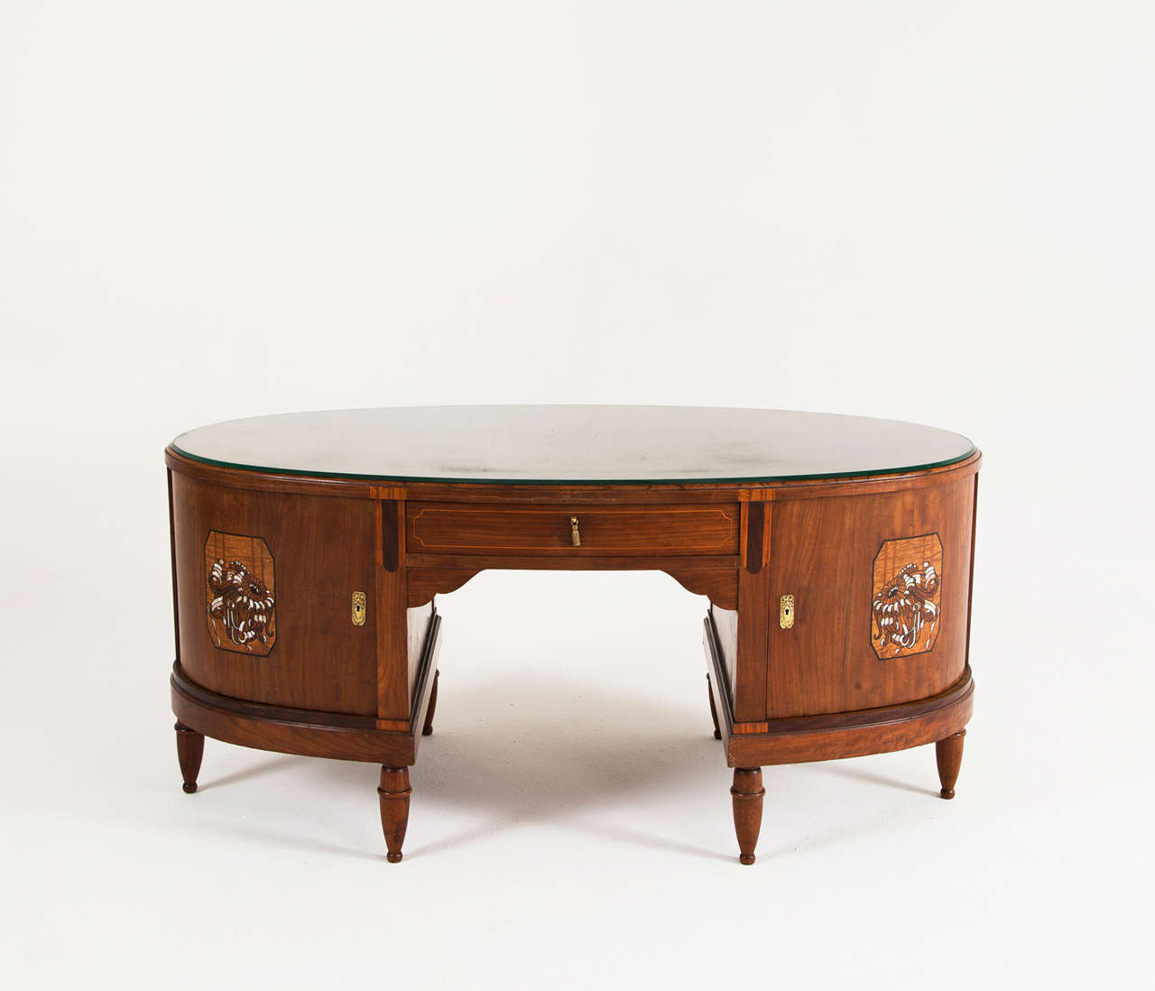 Two Sided Art Deco Executive Desk at 1stdibs